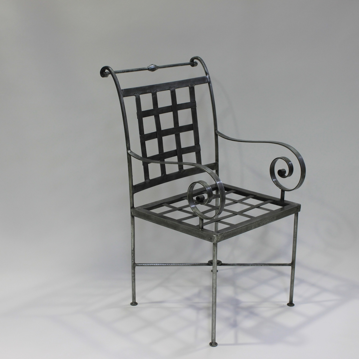 Chair French Steel Le Forge Genoa Carver