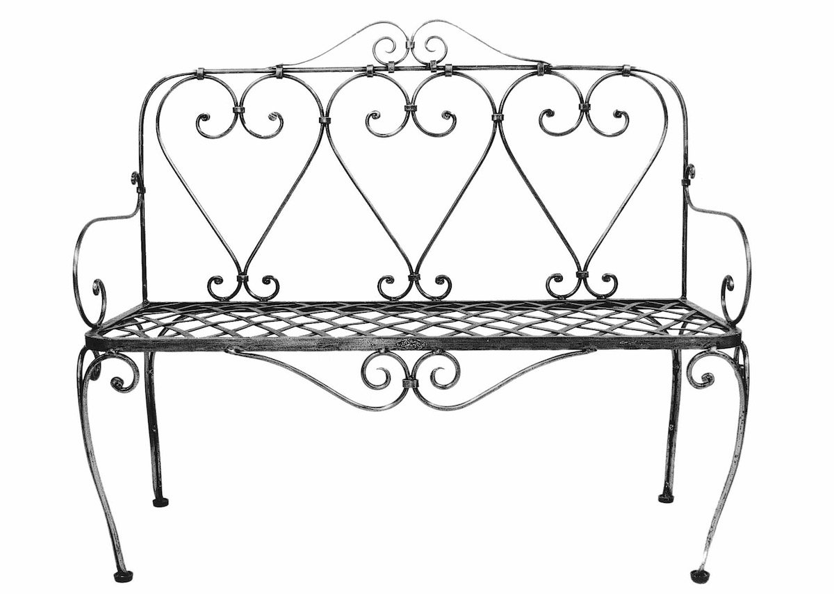Bench French Steel Le Forge Garden Chair Part 97
