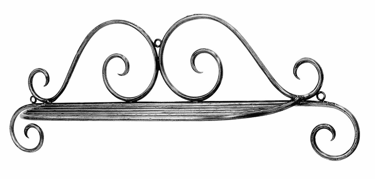 Shelf Wall Steel French Decortaive Le Forge