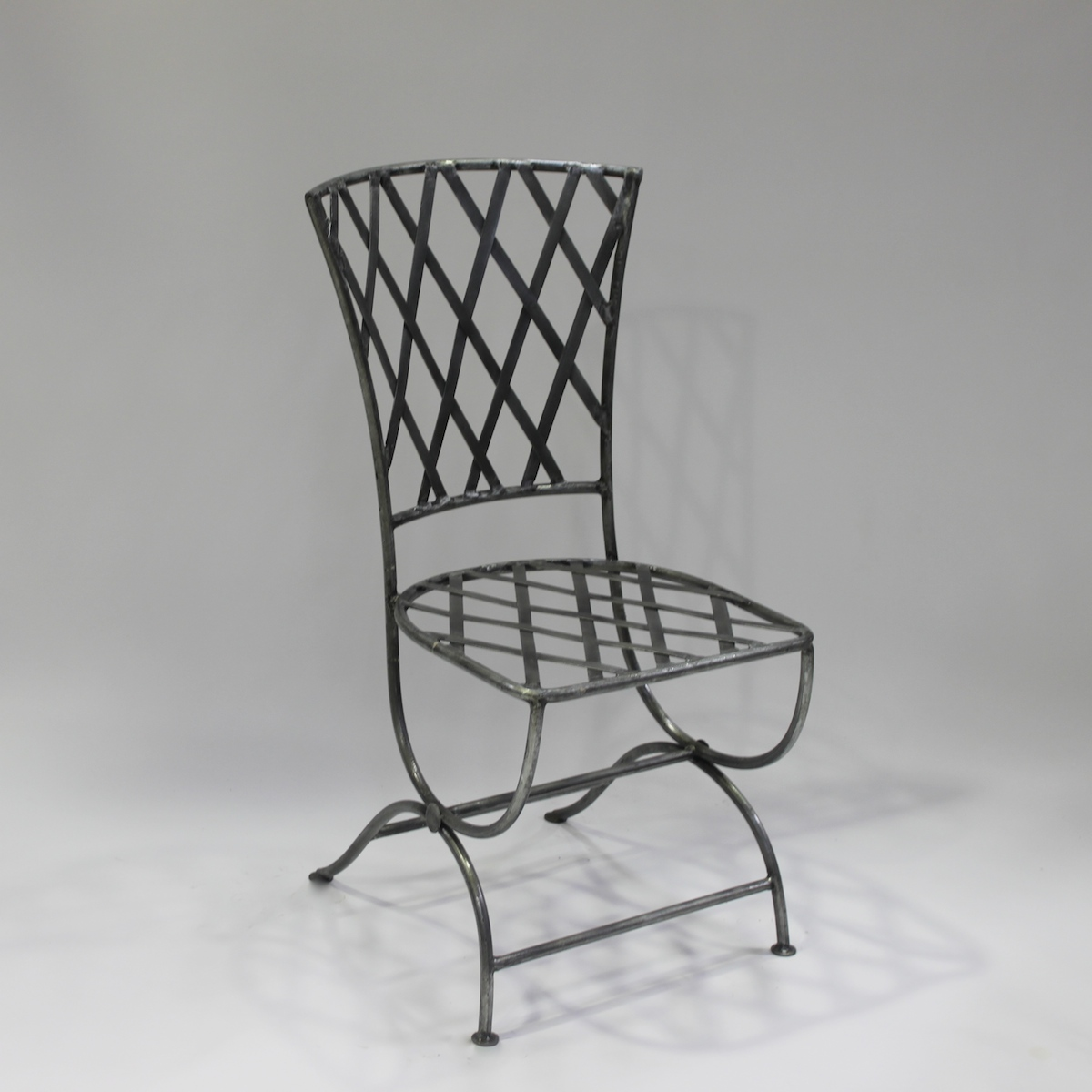 Chair French Steel Le Forge Lattice Garden Chair