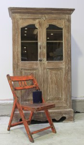 Armoire display Cabinmet Glass Door French Distressed Le Forge