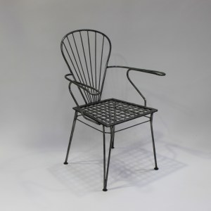 Chair French Steel Le Forge 1955 Carver