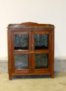 Zinc 2 Glass Door Cabinet Le Forge