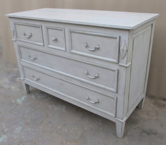 Timber Commode 5 Drawer