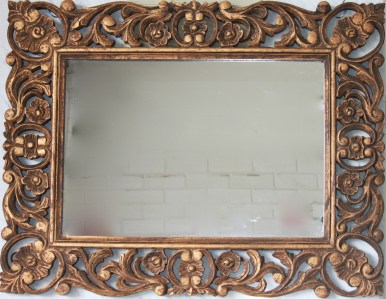 Mirror Wooden Gold Carved French Provincial Le Forge