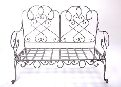 Bench French Steel Le Forge Garden Chair