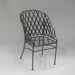 Chair French Steel Le Forge Lattice Garden Carver