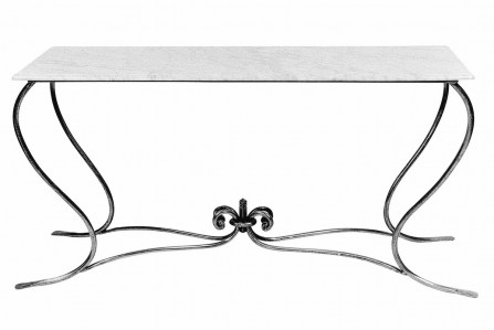 Console Steel Table Marble Glass Zinc Outdoor Garden French Provincial Le Forge