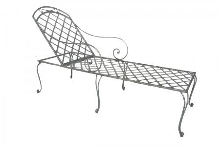 Sunlounge Bench Steel Outdoor French Le Forge