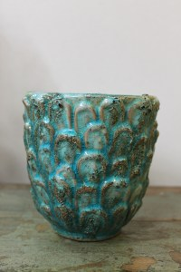Vintage Glazed Pattened Vase Plater