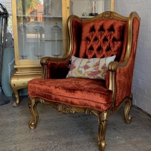 Wingback-chiar-goldleaf-velvet-exclusive-leforge-Willoughby-sydney.IMG_1166 jpg
