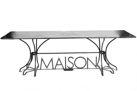 Maison table-Wroughtiron-steel-maison-frenchprovincial-leforge-furniture-sydney