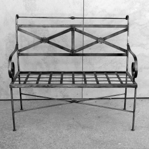 French 2 Seater Bench Galvanised Le Forge
