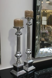 Candle Holder Stick Silver Nickle French Provincial Le Forge