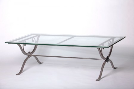 Coffee Table Steel  Marble Glass Outdoor French Provincial Le Forge
