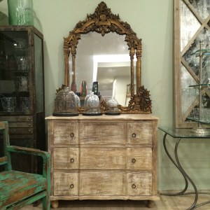 Commode French Dressing Table Wooden 3 Drawer
