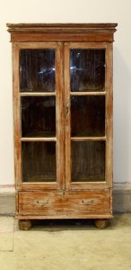 Armoire display Cabinet Glass Door French Distressed Le Forge
