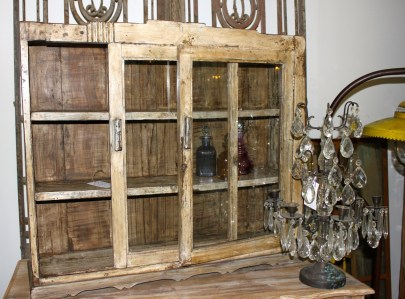 Bathroom Display Cabinet Vintage Destressed French Le Forge