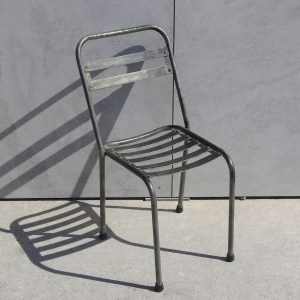 Steel Chair Outdoor Galvanised French Garden Le Forge