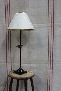 French Metal Lampbase Shade Le Forge