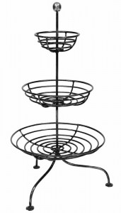 Fruit Stand Steel 3 Tier French Le Forge