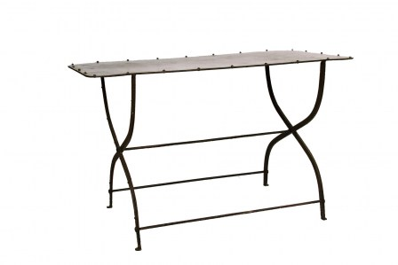 Console Steel Table Outdoor Garden French Provincial Le Forge