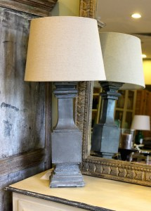 French Lamp Zinc Handmade Bedside Le Forge