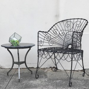 Wire Tub Chair French Indoors Le Forge