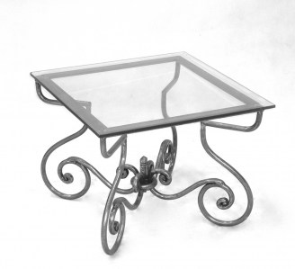 Lamp Steel Table Marble Glass Outdoor French Provincial Le Forge
