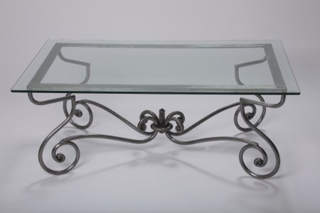 Coffee Table French Steel Glass Le Forge