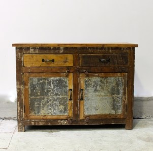Reclaimed Timber Zinc Sideboard Le Forge