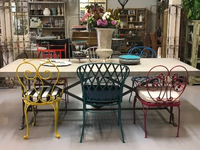 sale-leforge-furniture-metal-frenchprovincial-chair-table-sydney