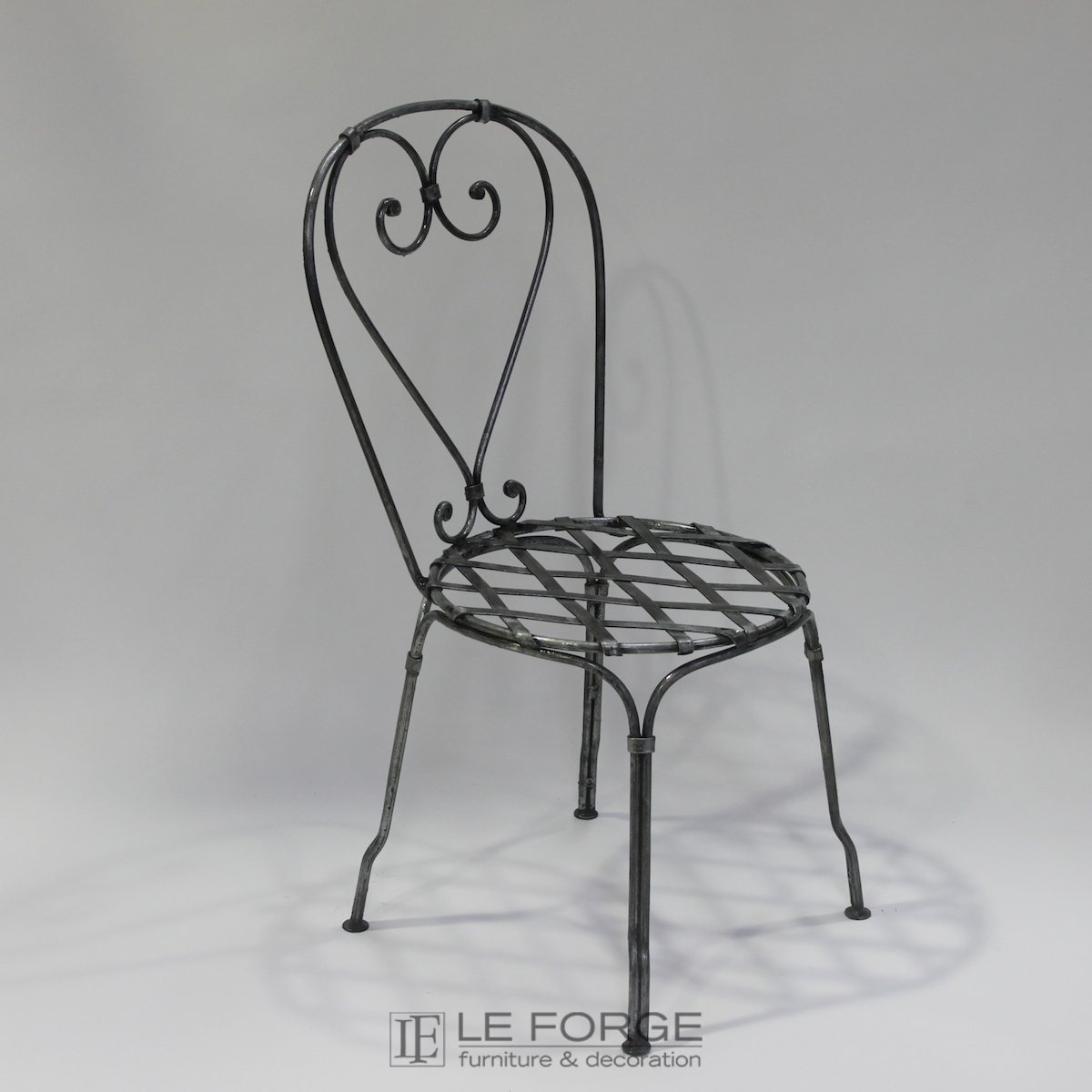 Chairs Bistro Chair Hand Forged Steel Wrought Iron