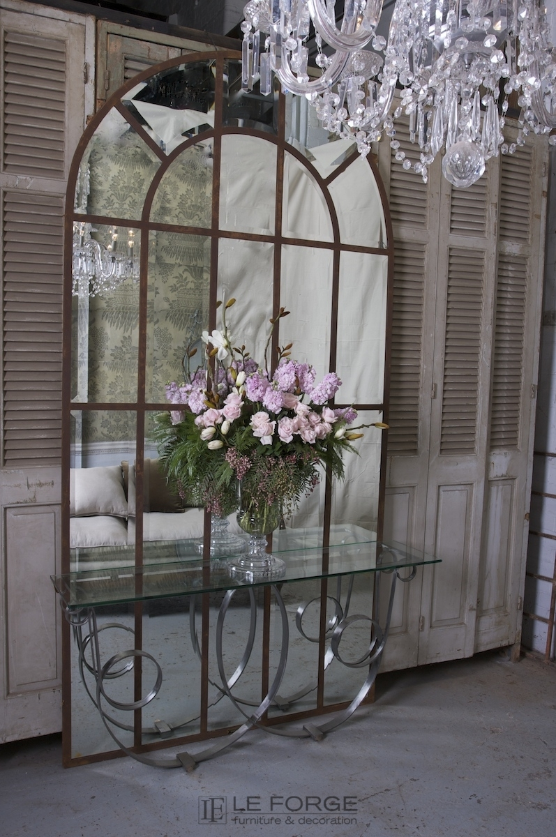 Decoration Arched Panel Mirror 180h Cm