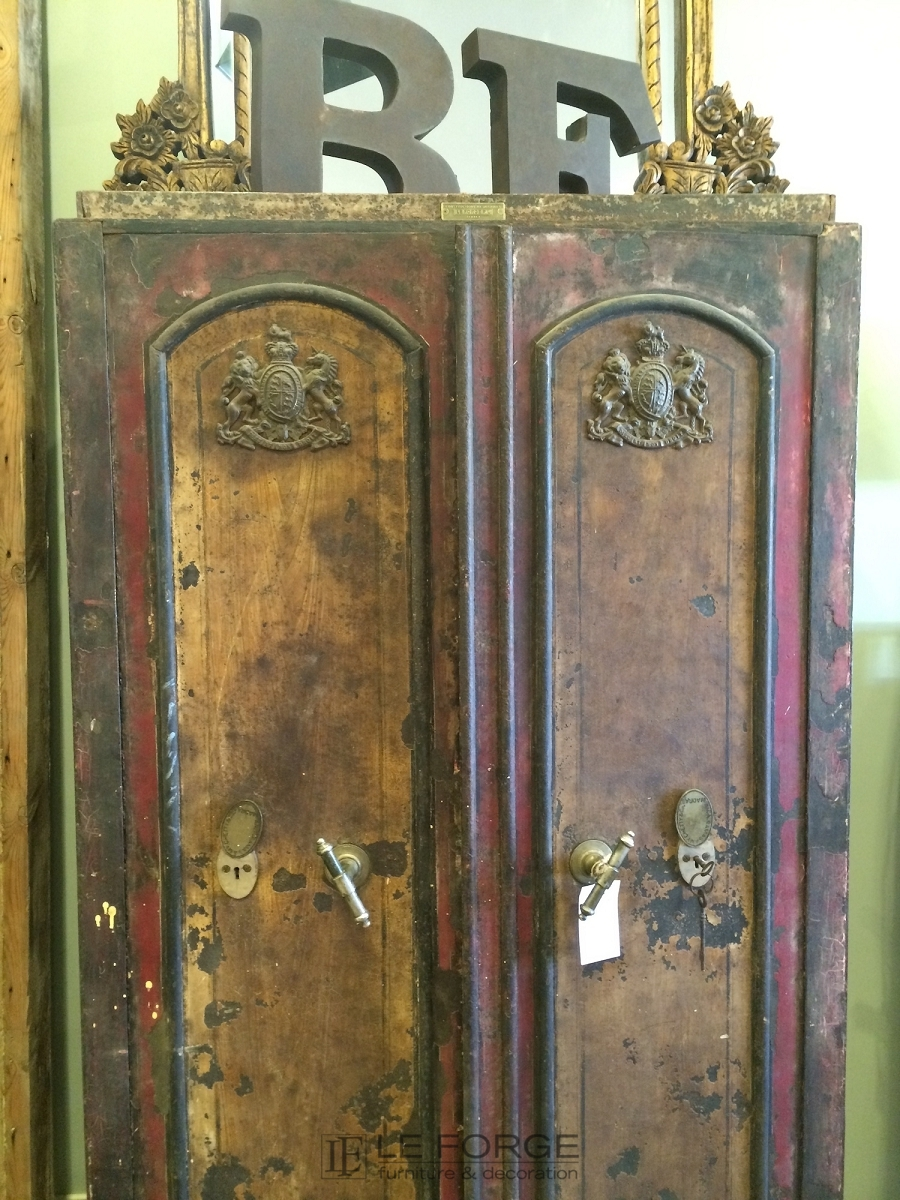 Cabinets And Sideboards Vintage Steel Safe Armoire # Deco Armoire Metallique Vintage