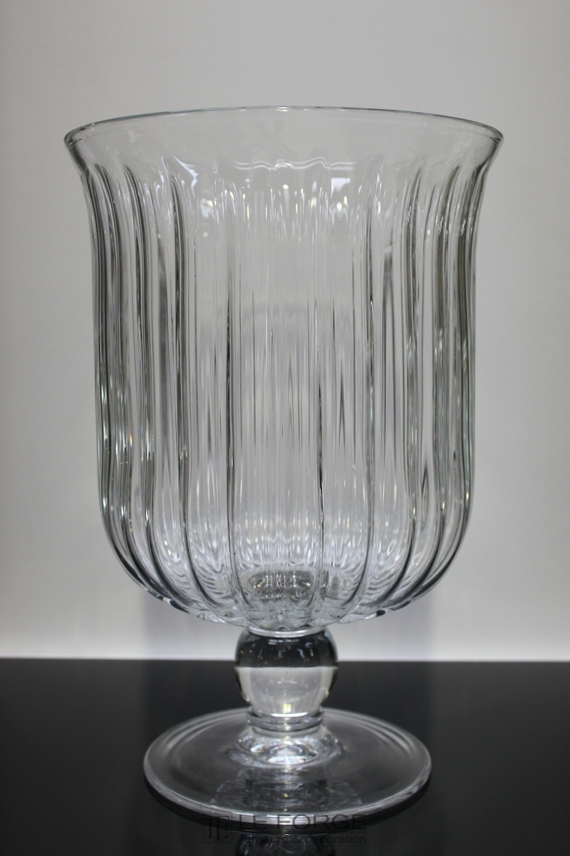Homewares And Accessories Fluted French Glass Vase