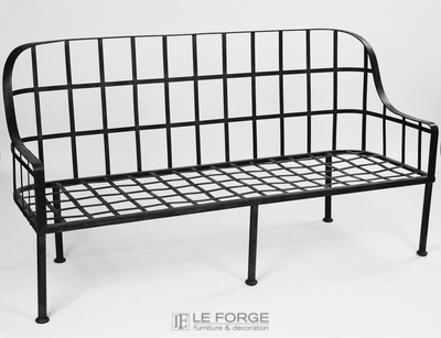 outdoor-chair-LaSpezia-bench-Galvanised-french-provincial-decoration-Le Forge