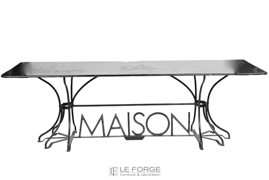 dining tables rectangle maison retangular table hand forged steel. Black Bedroom Furniture Sets. Home Design Ideas